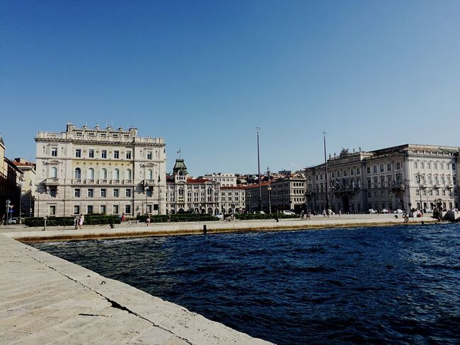 Architecture Travel Blue Water City Travel Destinations Tourism History Italy Trieste Friuli Venezia Giulia