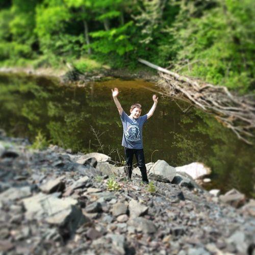 Great 2 mile hike with my boy today!!!! Hikingpennsylvania Hiking Mysoniscuterthanyours Pennsylvania Lakenockamixon Lake Nockamixon Creekswimming Outdoors LoveNature Mysonisbetterthanyours Buckscounty Buckscountypa