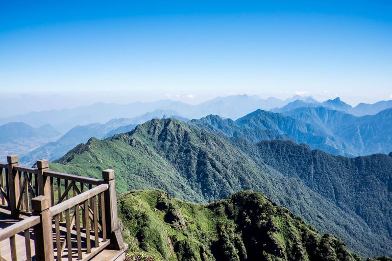 mountain and blue sky at Sa Pa, Vietnam Rest & Relax Holiday View Mountain Scenics - Nature Mountain Range Beauty In Nature Tranquil Scene Tree Sky Landscape Nature Environment Day Tranquility Plant Blue Land
