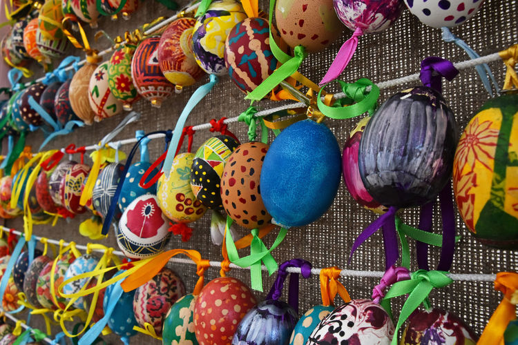 Easter festival of painted eggs decoration Art Authentic Celebration Colorful Colors Decor Decoration Decorative Easter Easter Eggs Eggs Ethnic Festival Festive Holiday Ornate Painted Ribbon Season  Show Tradition Ukrainian
