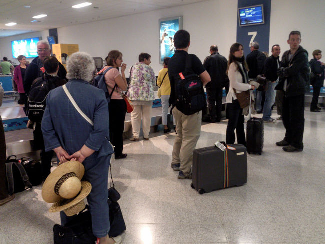 "Baggage Reclaim Area, Athens International Airport ""Eleftherios Venizelos"" Greece. Athens Airport Busy Travel Photography Travelling Waiting In Line Baggage Claim Indoors  International Travel Large Group Of People People Real People Standing Travellers"