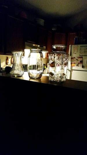 Nightime Kitchen Pretty Glass Light And Shadow Colorado Springs CO USA