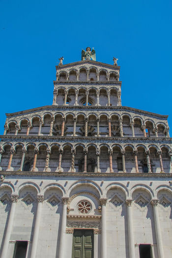 San Michele in Foro Basilica Church Lucca Lucca Italy San Michele In Foro Toscana Architectural Column Building Exterior Day Low Angle View No People Outside Religion Sculpture Travel Destinations