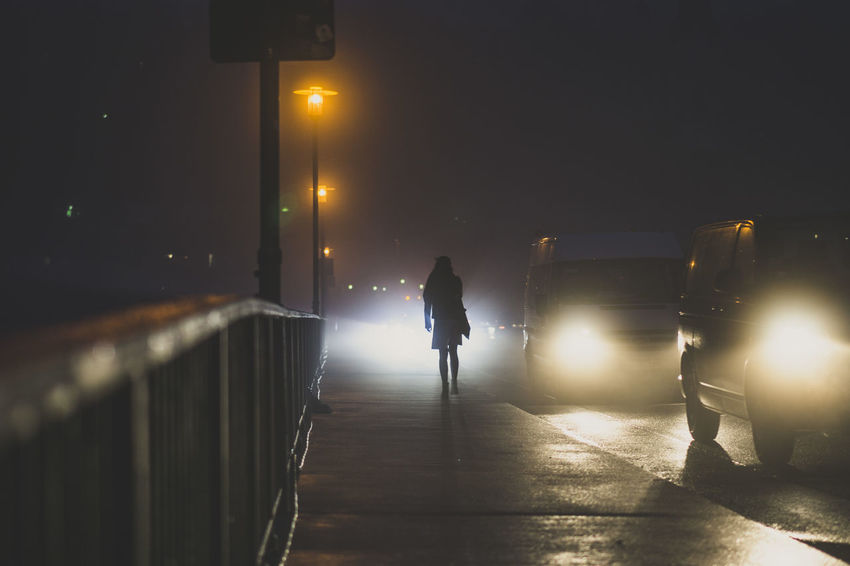 Atmosphere Atmospheric Mood Glowing Illuminated Incidental People Lowlight Motion Night Outdoors Silhouette Street Light Streetphotography The Way Forward