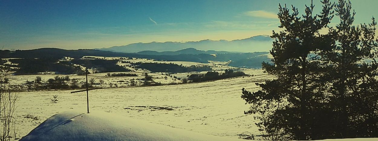 Beauty In Nature Mountain Sky Day Nature Sunlight No People Winter Cold Temperature Самоков България Samokov Bulgaria