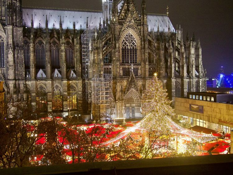 Christmas Market Cologne Cologne , Köln,  Cologne Cathedral Dom Cathedral Germany