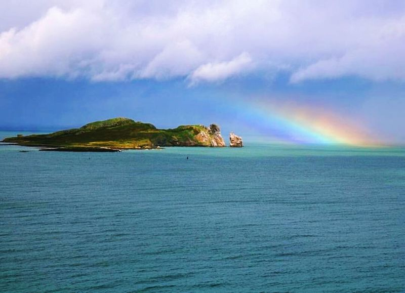 .... Beautiful Howth Ireland Ireland🍀 Beauty In Nature Beauty In Nature Cloud - Sky Day Howth Dublin Ireland <3 Ireland Lovers Irelandinspires Nature Ocean Ocean Photography Rainbow Sky Water