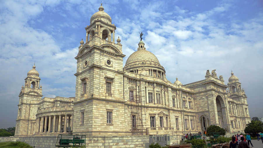 A Marvelous Monuments, Victoria Memorial, Kolkata Architecture Building Exterior Built Structure Sky Travel Destinations Travel Dome Nature Cloud - Sky Tourism History The Past Low Angle View Day Façade City Building Religion Belief Outdoors Ornate Government Victoria Memorial Victoria Memorial Kolkata