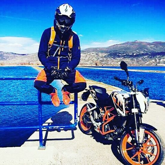 Headwear Adult One Man Only Adults Only Motorcycle Outdoors Only Men One Person People Day Men Landscape Sky First Eyeem Photo Adult Doodle KTM Duke200