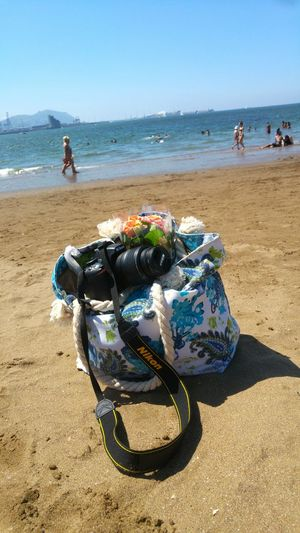 Beach Sea Baby Toes Roses🌹 Bilbao Basque Country Sand Roses Bag Neguri Camera Travel Destinations Blue Water Nature Horizon Over Water Vacations Outdoors Summer Summertime Flower Beauty In Nature Wave Sky