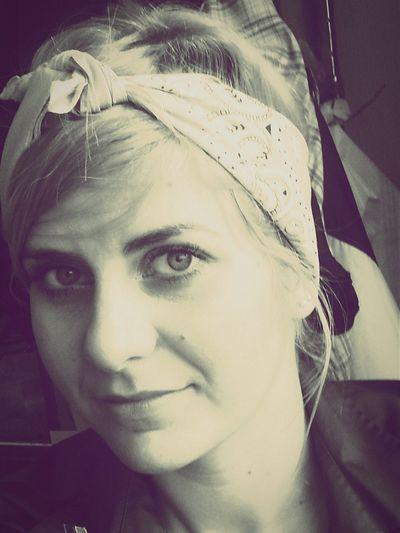 Portrait Sepia Gangsta Style Hairstyle Blonde Me