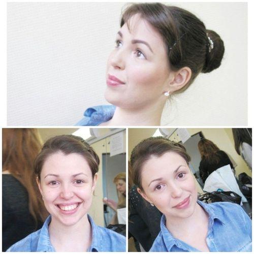Ааааааа мое первое практическое занятие в @probeautystudio , делала макияж для волшебной Илоны, спасибо замечательному преподавателю @mua_bytskevich за терпение, знания и дальше только вперед, есть стимул! Mua Minsk Belarus доипосле визажизнь probeauty girl makeup