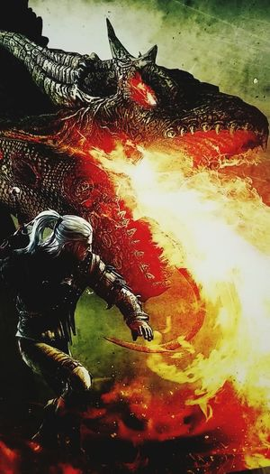 Dragon Taking Photos Check This Out The Witcher Shadow And Light Videogames Geraltofrivia Witcher3 Witcher2 Geraltfromrivia Geraltofrivia The Witcher Fire And Flames Fire And Smoke Fighting Sword Witcher