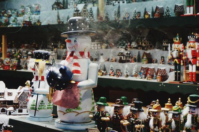 Salzburg Christmas Market (Christkindlmarkt): Toys, Figurines on Display Christmas Decoration Xmas Decorations Christmas Market Xmas Market Christkindlmarkt Salzburg, Austria Snowman Decoration Figurine  City First Eyeem Photo EyeEmNewHere