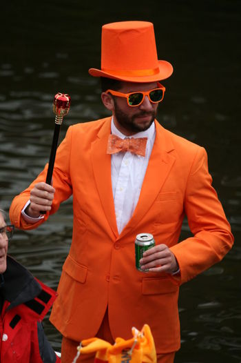 Orange Suited Up Glasses Kings Day Kings Day In Holland Kingsday 2018 Orange Color Suited And Booted Suitedman Sunglasses