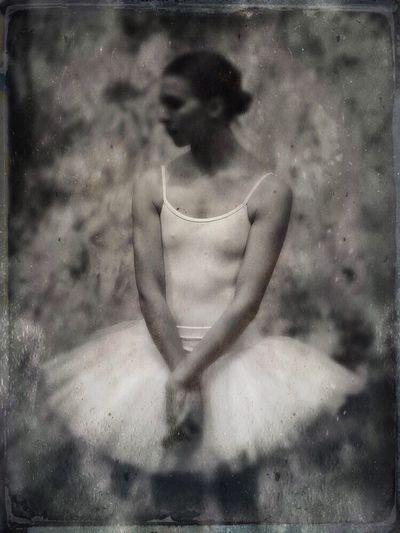 Dancer Tintype One Person Women Ballet Dancer Beauty Tintype