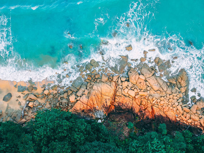 Water Sea Nature No People Underwater Land Motion Beauty In Nature Environment UnderSea Beach Geology Animal Sea Life Wave Animal Wildlife Solid High Angle View Coral Outdoors Power In Nature Marine