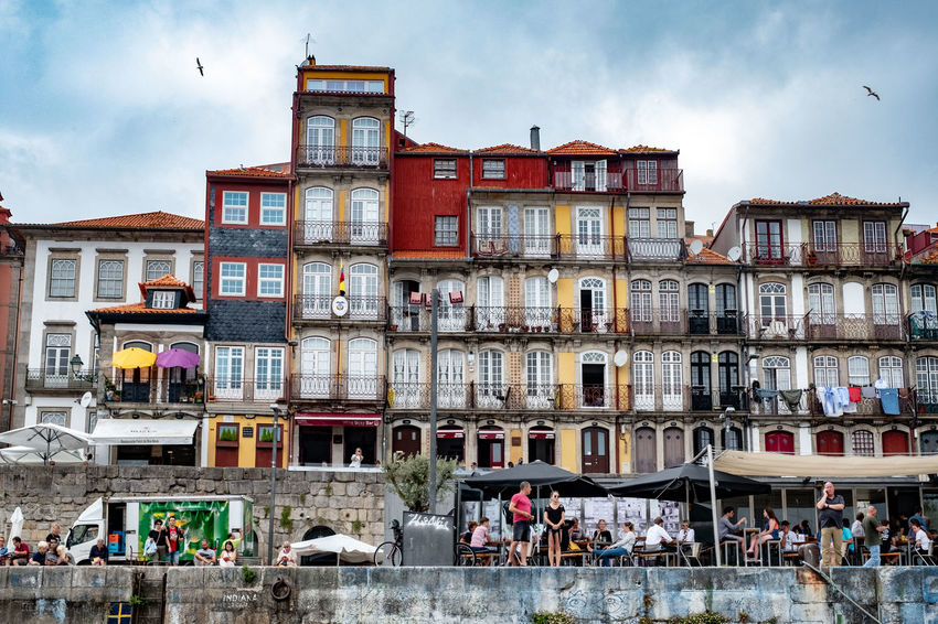 Architecture Building Exterior Built Structure Sky Cloud - Sky City Building Group Of People Nature Residential District Day Real People Window Crowd Women Water Transportation Large Group Of People Men Outdoors Riverside River Douro