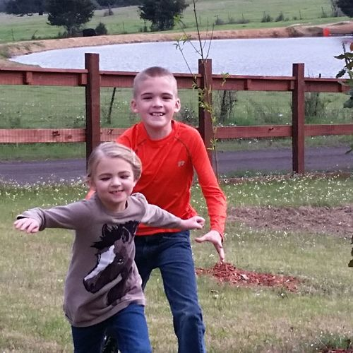 Playing Looking At Camera Mid Adult Portrait Child Father Mid Adult Men Family With One Child Happiness Red Son Smiling Boys Suburb Family Front View Males  Bonding Childhood Outdoors Adult Grandkids Are My Joy!!!!! Grandchildren Love