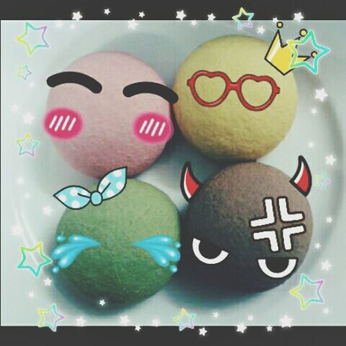 Lovely Macarons Emoticons Food♡ Pics By Phone