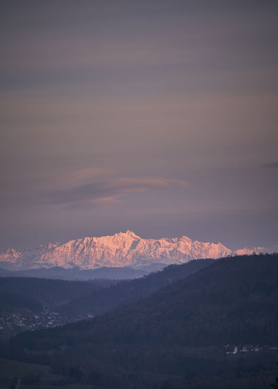 Säntis Beauty In Nature Cloud - Sky Cold Temperature Environment Idyllic Landscape Long Exposure Mountain Mountain Peak Mountain Range Nature No People Non-urban Scene Outdoors Remote Scenics - Nature Sky Snow Snowcapped Mountain Sunset Switzerland Tranquil Scene Tranquility Winter