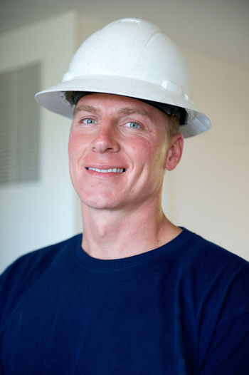 Casual Clothing Close-up Confidence  Eyeglasses  Focus On Foreground Front View Handsome Handsome Man Hard Hat Hard Hat Crew Headshot Leisure Activity Lifestyles Mid Adult Mid Adult Men Person Portrait