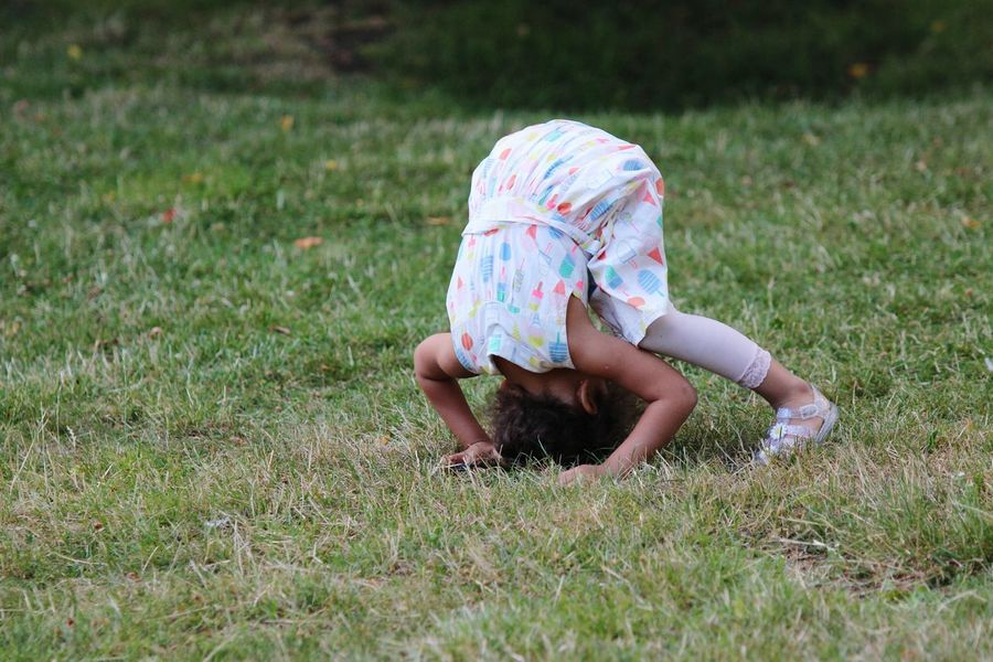 EyeEm Selects Grass Childhood Outdoors Nature Nala❤ Princess Cuteness Happiness Rollypolly Fun Playing Games