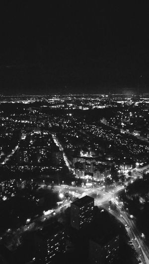 Cityscape Night City Aerial View No People