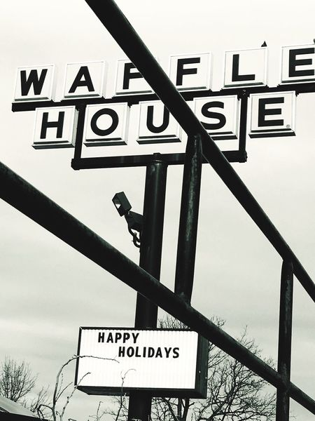 Business Waffle House Restaurant Sign Urban City Architecture