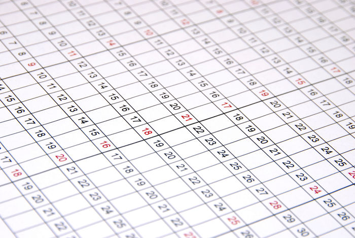 Planning Accuracy Business Calendar Calendars Close-up Extreme Close-up Focus On Foreground Full Frame High Angle View In A Row Indoors  No People Number Order Paper Planner Red Table Western Script White Color