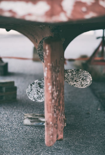 Close-Up Of Old Wooden Table