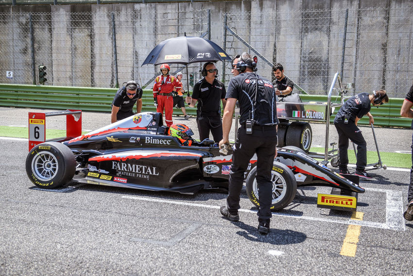 Formula 4 Abarth car on starting grid Abarth Car Cars Editorial Use Only Formula 4 Men Motor Sport Outdoors People Racing Racing Car Real People Starting Grid Starting Line