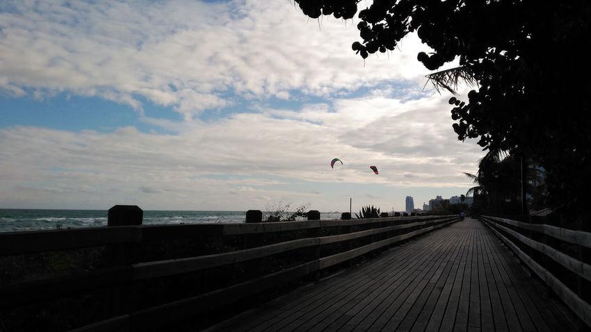 Beach Boardwalk Cloud - Sky Kite No People Outdoors Sky The Way Forward
