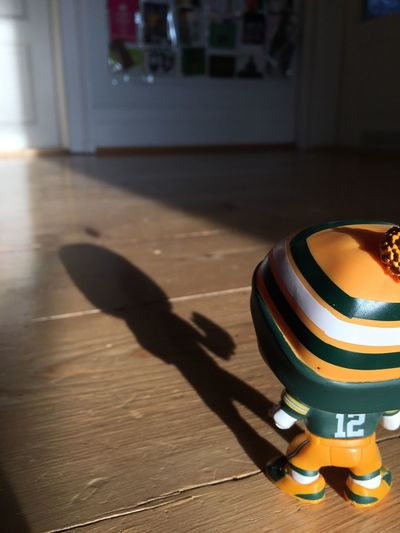 Shadow Table Indoors  No People Close-up Day Football American Football GreenbayPackers NFL Aaron Rodgers GoPackGo