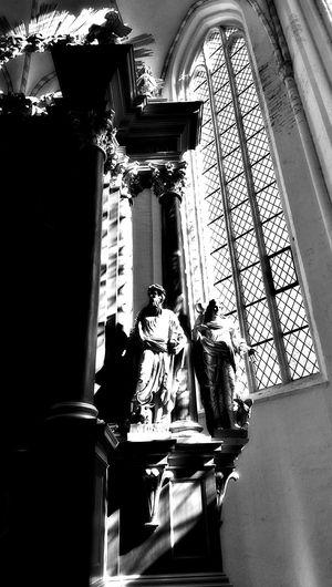 Praising The Lord Old Church Blackandwhite Altar Black And White