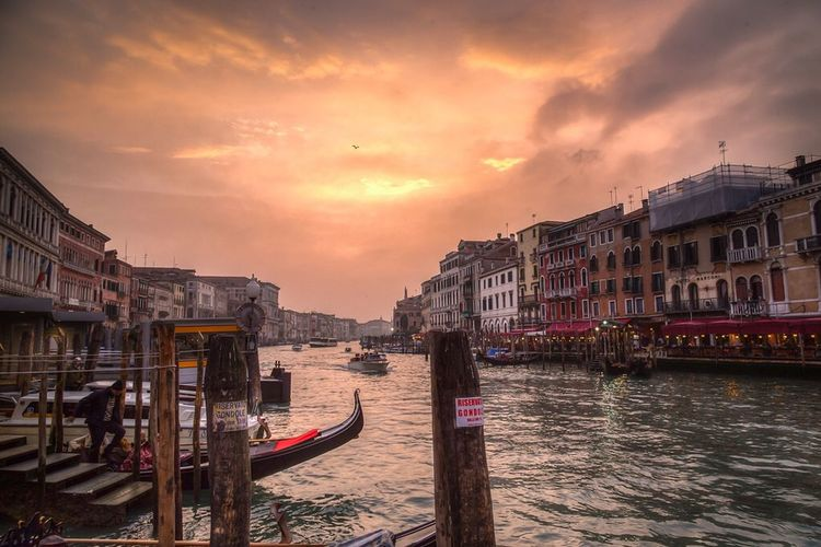 Venetian Sunset at Grand Canal First Eyeem Photo Venice Venezia Sunset Travel Travel Photography Italia Italy