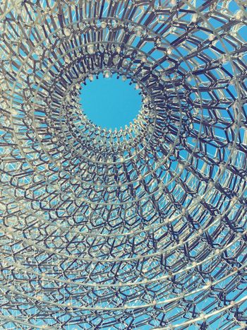 Expo England Pavillion Pattern Sky Pastel Power Ordered Caos Metalhead Metal Art iPhoneography Blue Wave The Architect - 2016 EyeEm Awards Pivotal Ideas Beautifully Organized