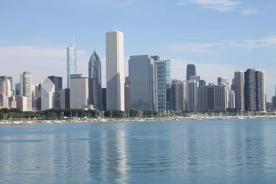 Architecture Built Structure Chicago City Cityscape Pier River Skyline Skyscraper