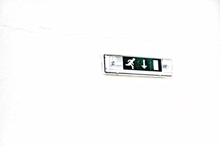 Exit Copy Space Technology Connection White Color Push Button Outlet Studio Shot Green Color Geometric Shape White Background Man Made Object No People Minimalism