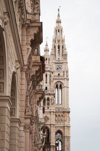 Wiener Rathaus Architecture Building Exterior Built Structure History No People Tower Viena