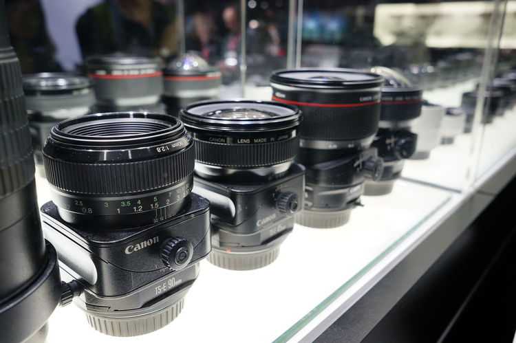 I'd live to have one of those... Or two... Or three... Canon Tilt-shift Lenses Photokina2014