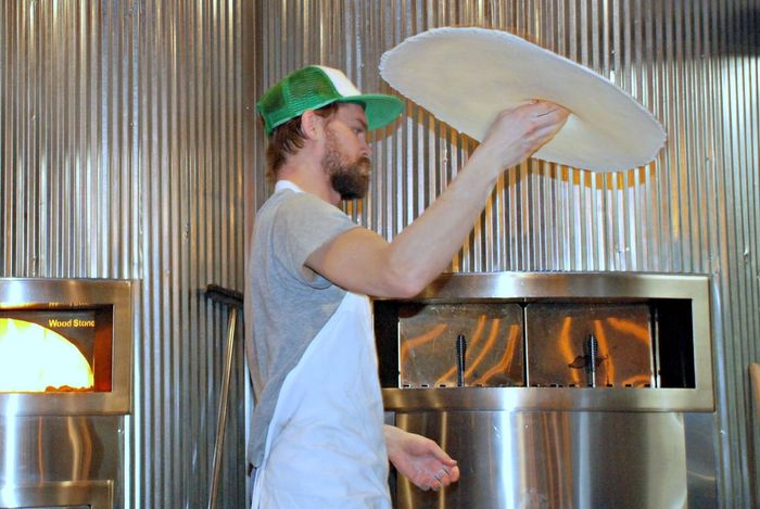 Pizza Chef. Indoors  One Man Only Restaurant Real People Food Preparation
