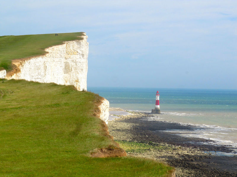 Beach Beachy Head Beauty In Nature Cliff Grass Horizon Over Water Nature Scenics Sea Sky Tranquility Water