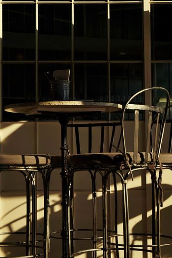 European Furniture Outdoor Photography Outdoor Furniture Restaurant Restaurant Furnitures Alfresco Cafe Outside Photography Chair Table Empty No People Seat Sunlight Barstool Cafe Furniture