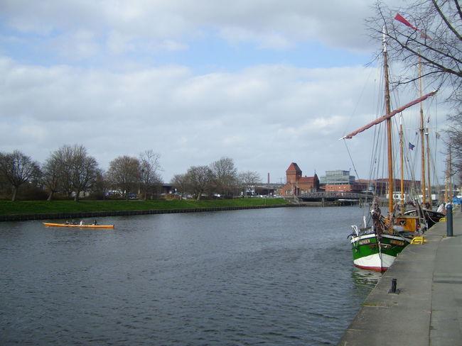 Harbour Lübeck Lübeck City Lübeck, Germany Trave River Untertrave Day Hansestadt Hansestadt Lübeck Historic Site River Sky Water Waterfront