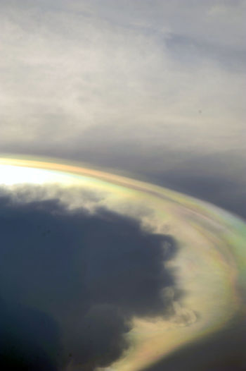 a shoot of a rainbow Aerial View Atmosphere Atmospheric Mood Cloud Cloud - Sky Clouds And Sky Cloudscape Cloudy Composition Distant Dramatic Sky Extinction Hellosunset Hellosunshine Majestic Orange Color Outdoors Overcast Photooftheday Rainbow Sky Rainbows Silhouette Sky Top Perspective Wired World