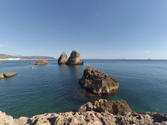 Vietrisulmare Seascape Stacks  Amalfi Coast Infinity Fullness Blue Sea Blue Sky Blue Color First Eyeem Photo