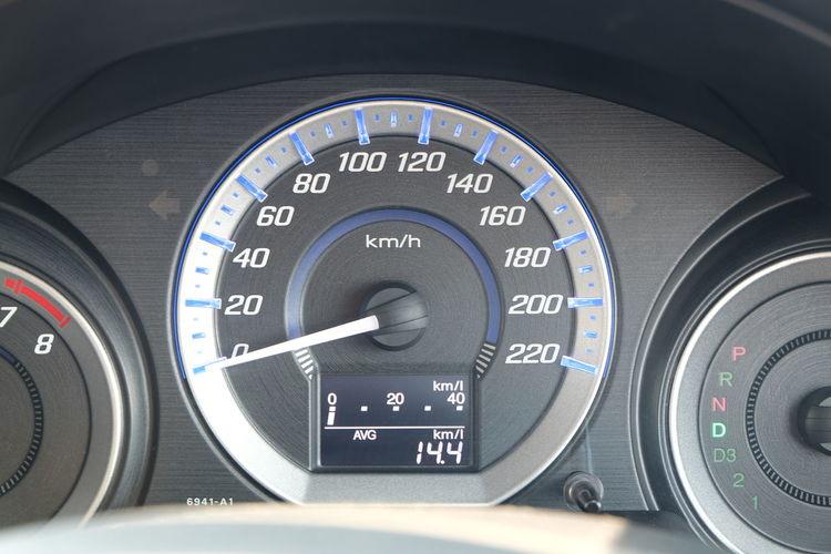Close-up of speedometer