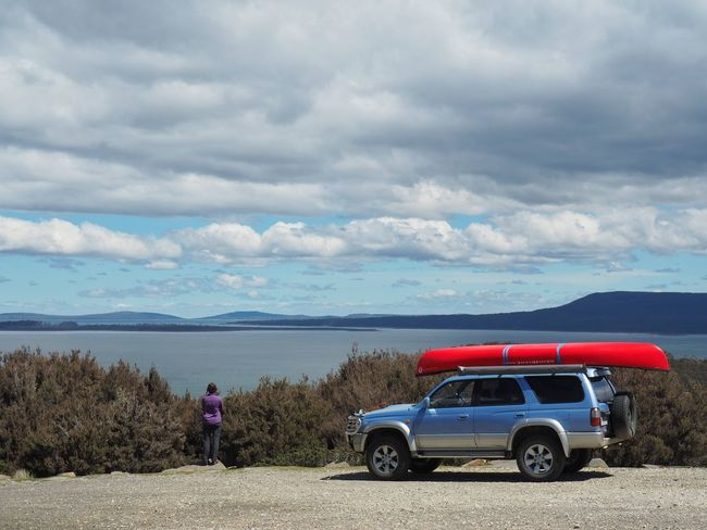 Haven't been on here in a while it's been a busy few weeks at the office before xmas. But now we're on a 3 week camping adventure in north west Tasmania Car Transportation Cloud - Sky Canoe Tasmania Camping Olympus OM-D E-M5 Mk.II Beauty In Nature My Wife