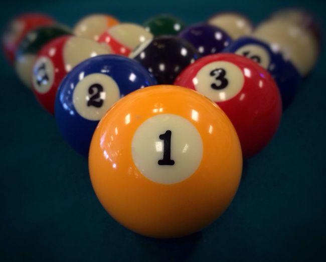 Close up of multi colored balls